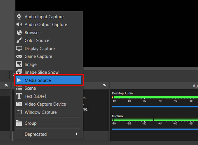 Add Media Source in OBS Studio