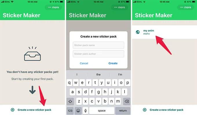 Create Custom Animated Sticker Pack on iPhone