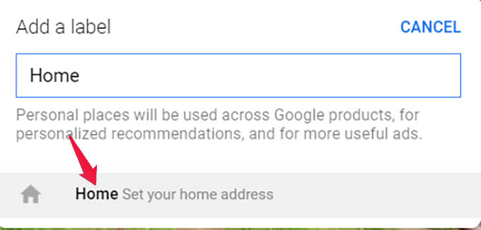 Change Home Location in Google Maps Web