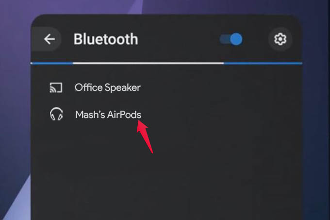 Connect AirPods to Chromebook from Bluetooth