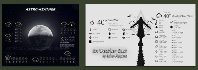 rainmeter weather widgets for windows  on devian art