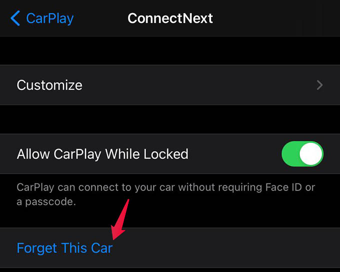 Forget CarPlay Connected Car on iPhone
