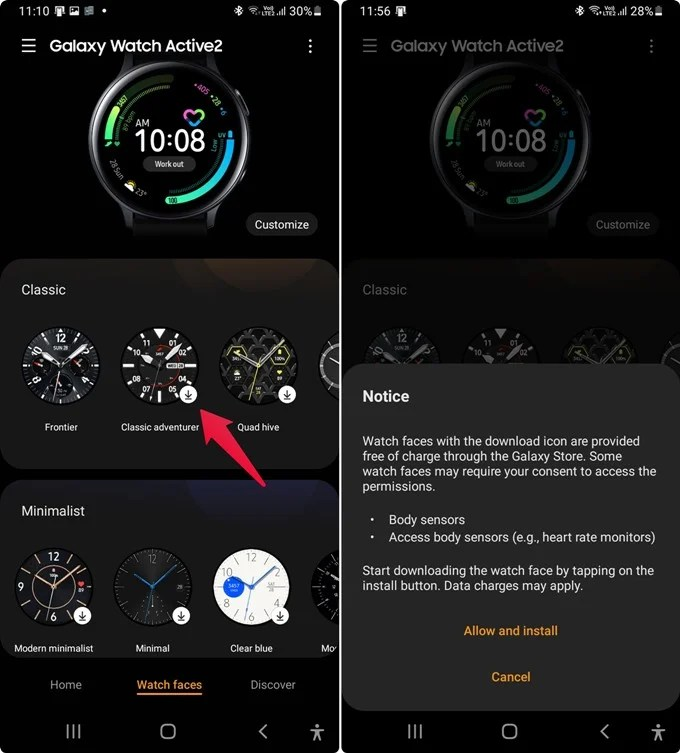Install New Watch Face on Samsung Galaxy Watch