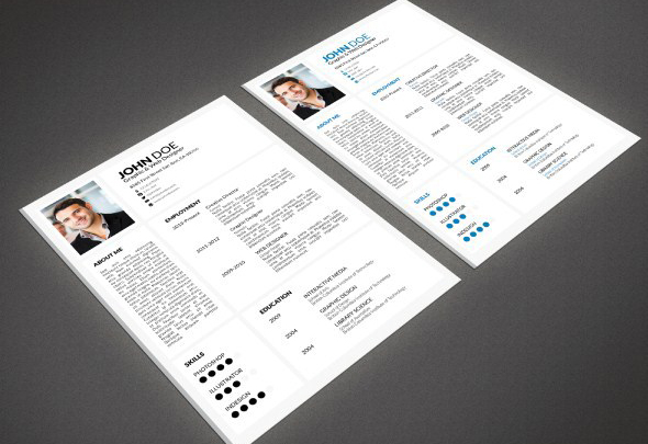 25  Best Free Indesign Resume Templates  Updated 2018  indesign resume templates 14