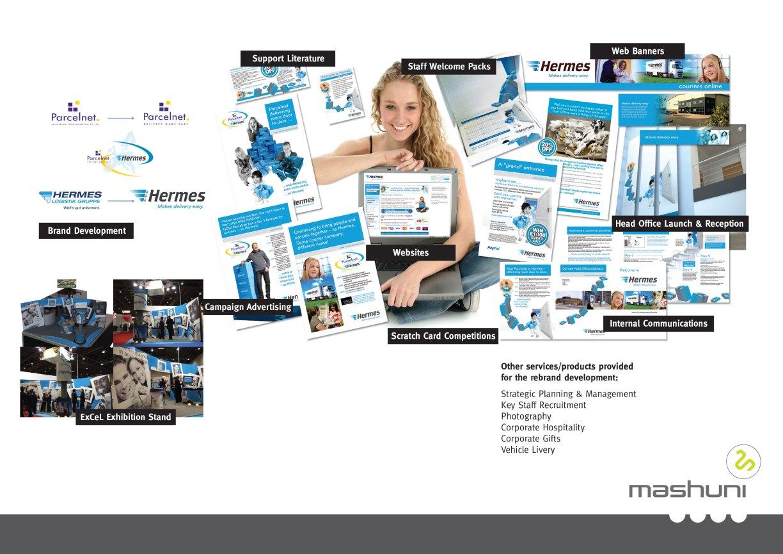 Mashuni (formerly TWO Marketing) rebrand for Parcelnet Hermes