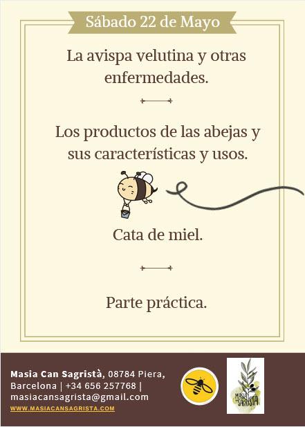 Curso de apicultura sostenible organizado por Masia Can Sagristá, s.l. y Beeodiversitat.