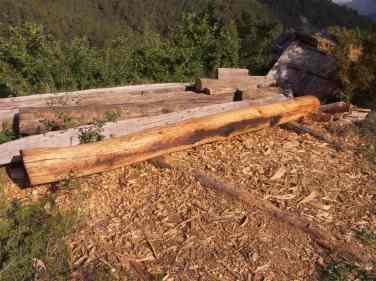 Viga de madera recuperada