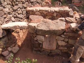 Losas de piedra como dintel