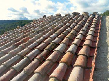 Así se ve el tejado...