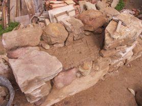 Composición de la pared de piedra