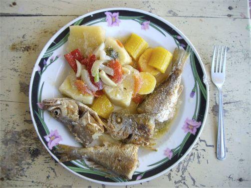 20 Rondón de pescado (con leche de coco)