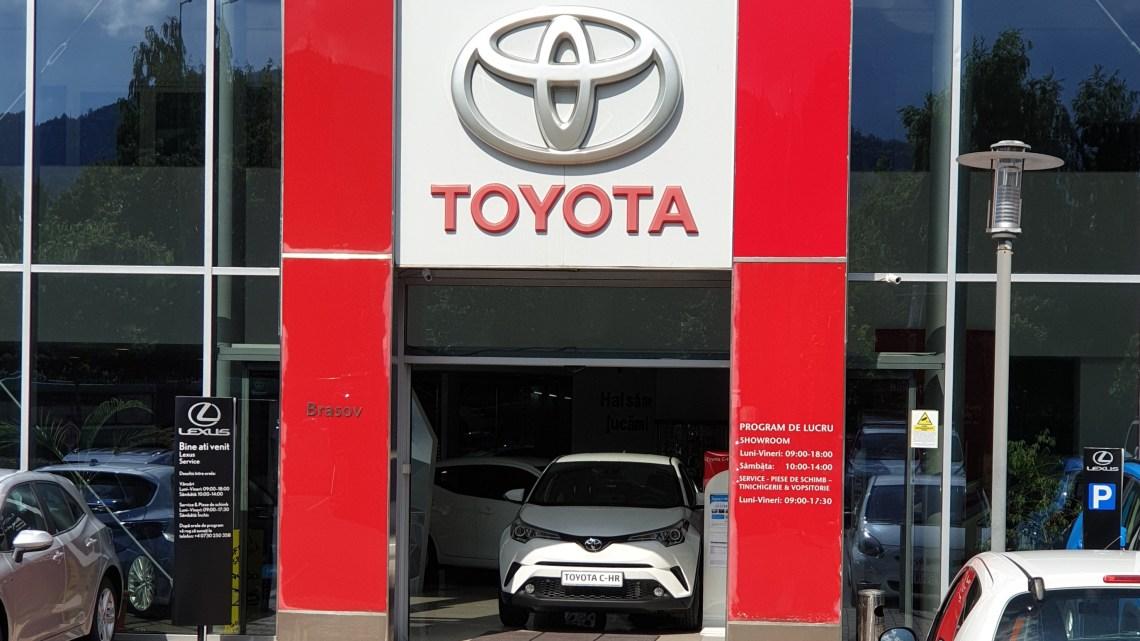 intrarea in sediul Toyota Brasov