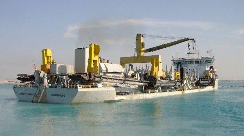 Jan de Nul comenzó obras de dragado en el estuario bahiense