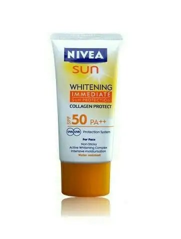 Nivea Sun Whitening Immediate SPF50 PA++, produk nivea, sunblock terbaik,. harga sunblock