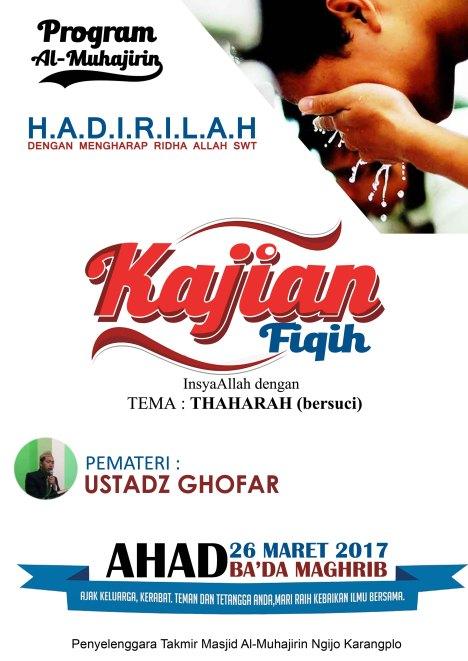poster kajian fiqih 26 mar 2017