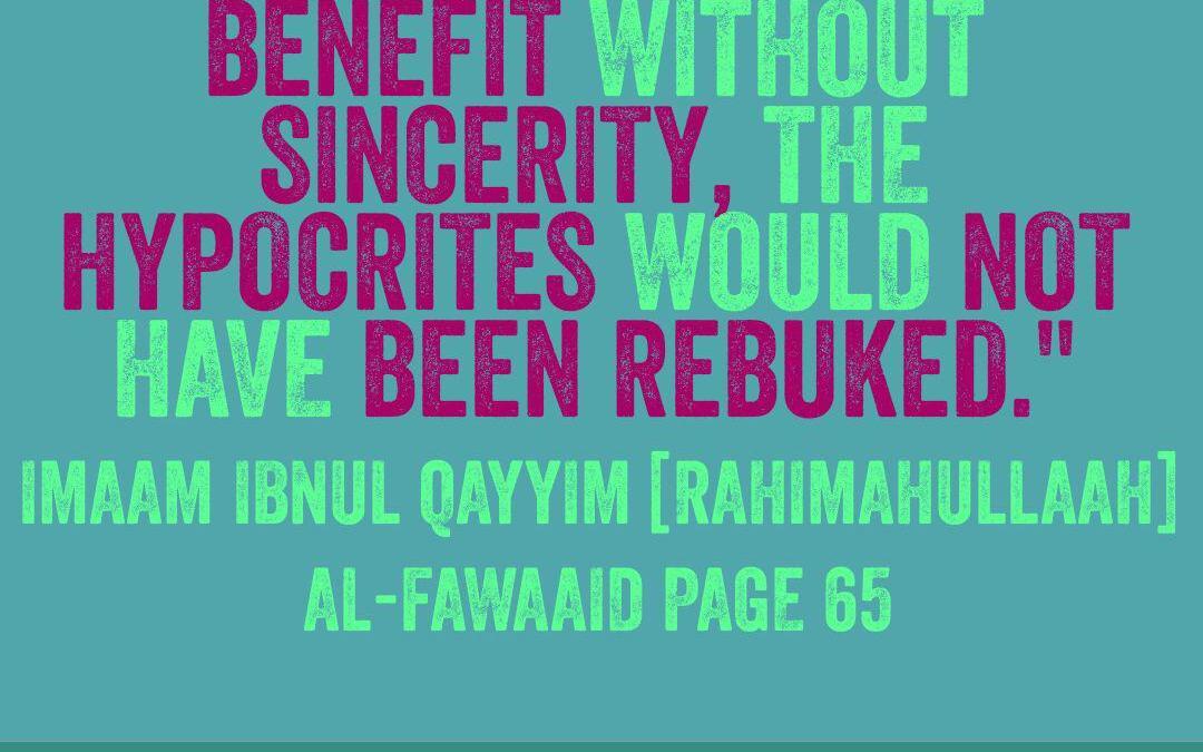 The Main Reason Munaafiqoon Are Rebuked – By Imaam Ibnul Qayyim