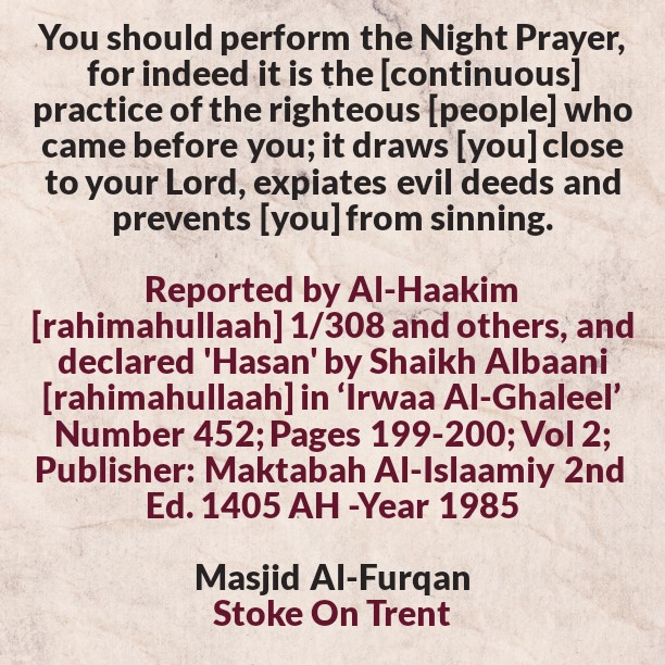 Some of The Tremendous Effects of The Night Prayer