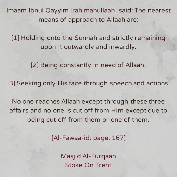 The Nearest Means of Getting Close to Allaah – By Imaam Ibnul Qayyim