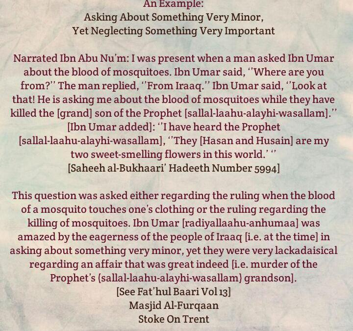 A Question That Amazed Ibn Umar-[Brother Wishes to Share a Faa'idah He Came Across]