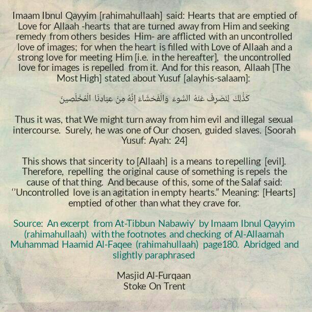 Hearts Devoid of Love of Allaah Become Infatuated With Images – By Imaam Ibnul Qayyim [rahimahullaah]
