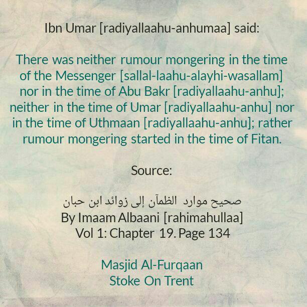 Beware! Beware! Beware! Rumour Mongering Grips Many People During Times of Fitan