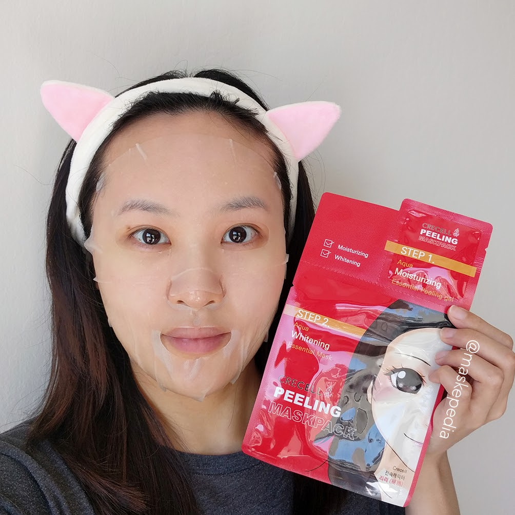 Crecell 2-Step Peeling & Brightening Mask Pack