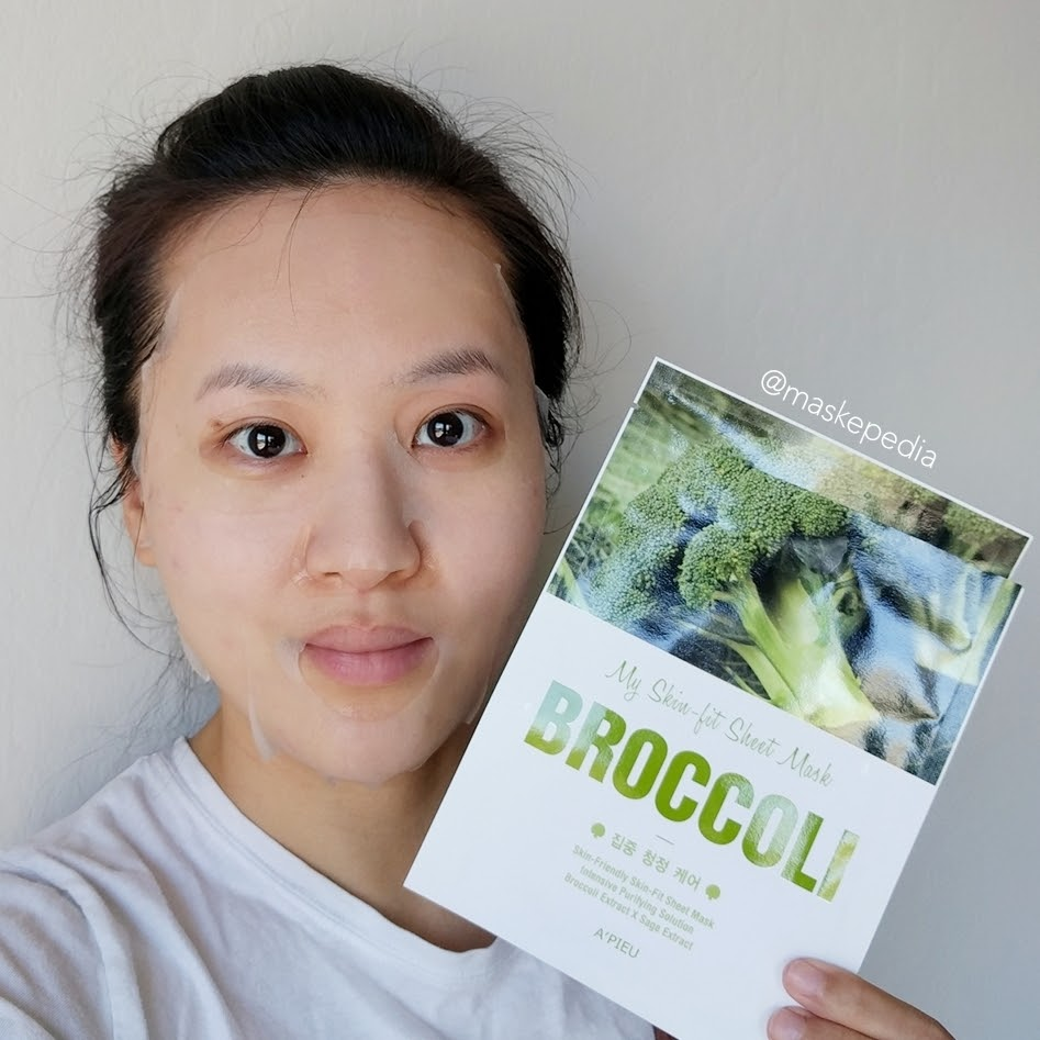 A'pieu My Skin Fit Sheet Mask Broccoli