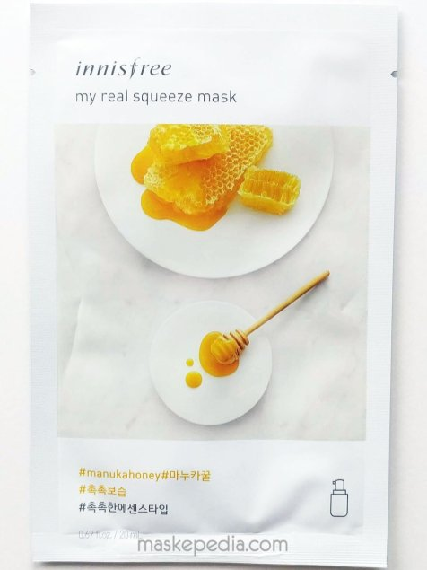Innisfree My Real Squeeze Sheet Mask - Manuka Honey