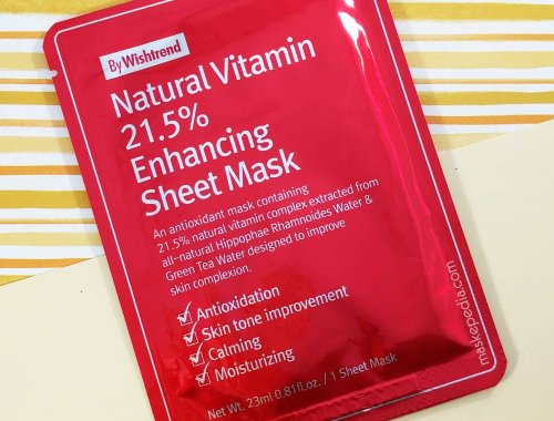 By Wishtrend Natural Vitamin 21.5% Enhancing Sheet Mask