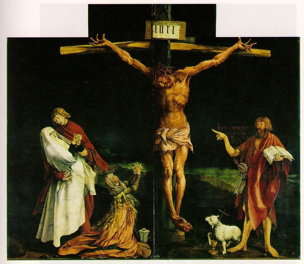 The Isenheim Crucifixion by Matthias Grünewald (1515)