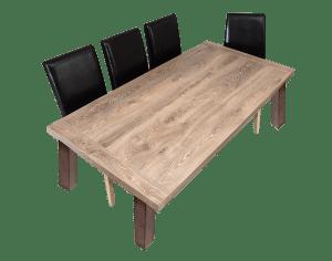 Matbord i ljusbrun engelsk ek