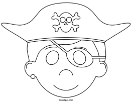 printable pirate mask