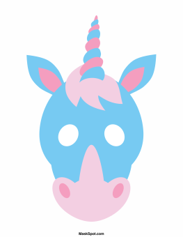 graphic about Free Printable Unicorn Mask named Cost-free Unicorn Printables Roundup