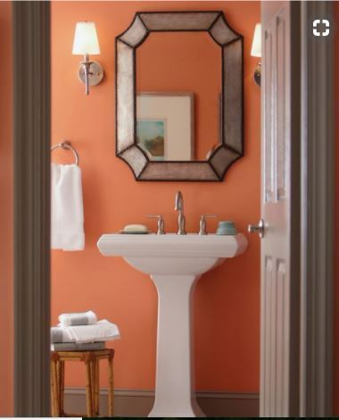 Blog Apricot paint color bath