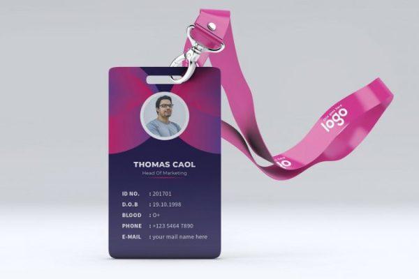 ukuran standar id card