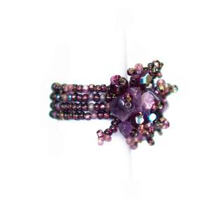 Guate!Guate Volcán lila ring MoM110-LI, Guatemala, konsthantverk, smycke, purpur, gredelin