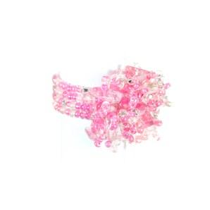 Guate!Guate Vólcan rosa ring MoM110-RO, Guatemala, konsthantverk, pärlor, smycke