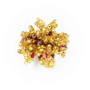 Guate!Guate Pyro guld/röd ring MoM12-GUR, Guatemala, konsthantverk, smycke