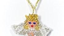 Julgranshänge ängel blond, Mom655Cj, Guate!Guate, Guatemala, handgjord, hänge, juldekoration, julgran, julpynt, konsthantverk, pärlor, vit, ängel