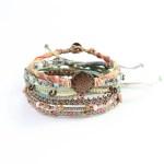 aqua, armband, brun, Earth, Guatemala, konsthantverk, koppar, maya, mint, mode, multicolour, smycke, teal, Wakami, Earth Bracelet, morning, pastell
