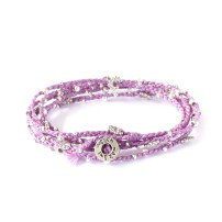 armband, Color of the Year 2014, double wrap, Fair Trade, Guatemala, halsband, handtillverkat, Life Is What You Make of It, lila, Pantone, radiant orchid, silver