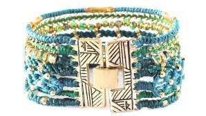 All One, armband, Fair Trade, grön, Guatemala, guld, hantverk, manschett, Wakami
