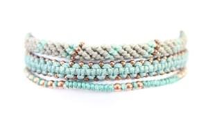 3-pack, armband, Fair Trade, Guatemala, handtillverkat, koppar, Masomenos, mint, paket & kombinationer, Wakami