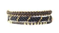 3-pack, armband, Fair Trade, Guatemala, guld, handtillverkat, Masomenos, paket & kombinationer, svart, Wakami