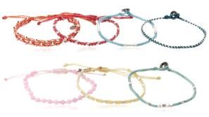 All One, armband, blå, Complements, Fair Trade, Guatemala, gul, hantverk, paket, rosa, röd, silver, Spring Break, Wakami