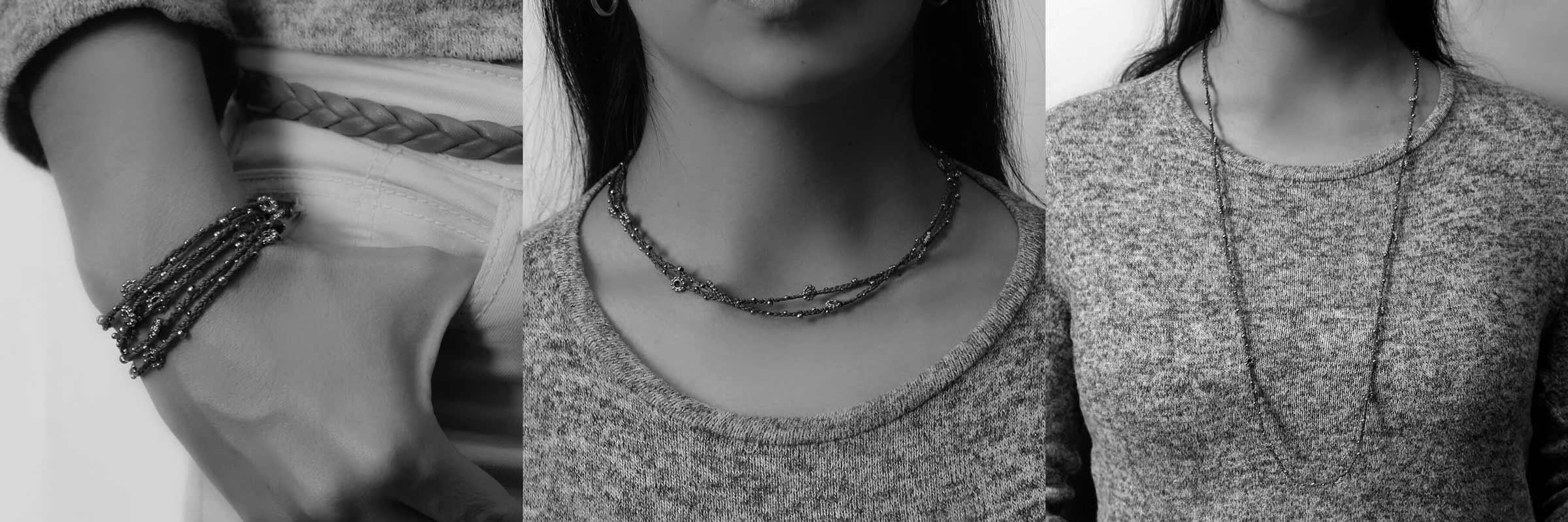 Smycket Life Is buret som halsband eller armband