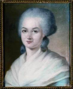 """""""Marie-Olympe-de-Gouges"""" by Alexander Kucharsky - Collection particulière. Licensed under Public domain via Wikimedia Commons - http://commons.wikimedia.org/wiki/File:Marie-Olympe-de-Gouges.jpg#mediaviewer/File:Marie-Olympe-de-Gouges.jpg"""