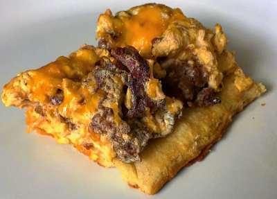 High Protein Breakfast Pizza mason woodruff