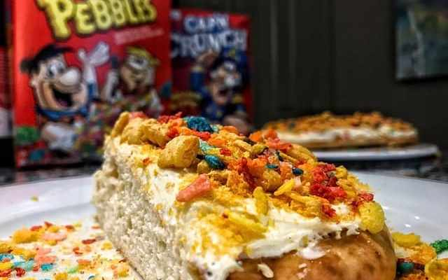 Cereal Milk Protein Cake: MasonFit Monthly