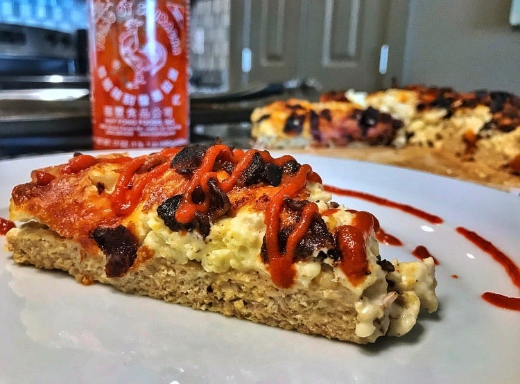 High Protein, Low Carb Creamy Breakfast Pizza Recipe